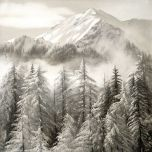 Cuadro lienzo paisaje montaña