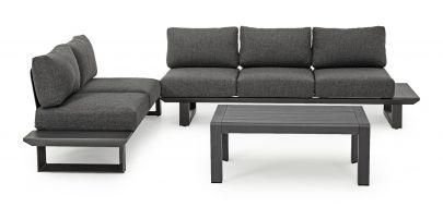 sofá esquinero Konnor gris oscuro exterior