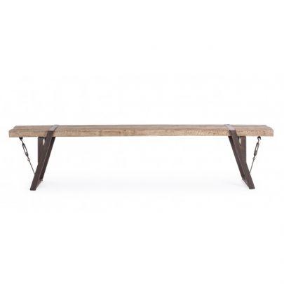 banco madera hierro estilo industrial