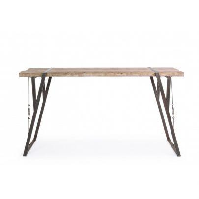 barra hierro y madera estilo industrial