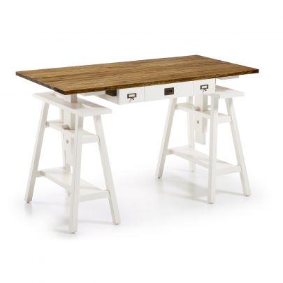 escritorio con caballetes regulable en altura
