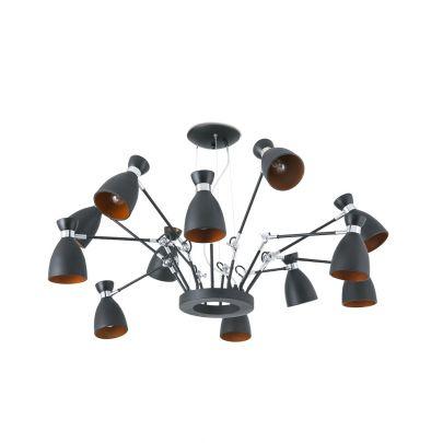 Lámpara-techo-RETRO-negro-oro