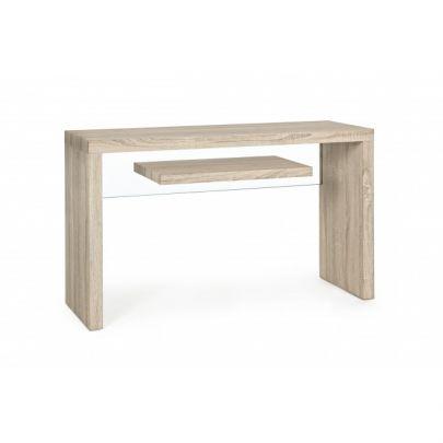 Consola de madera y cristal estilo nordico