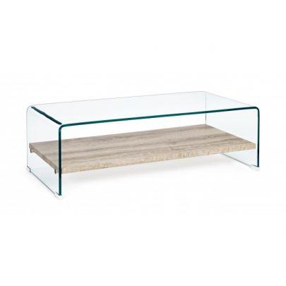 mesa centro sobre cristal