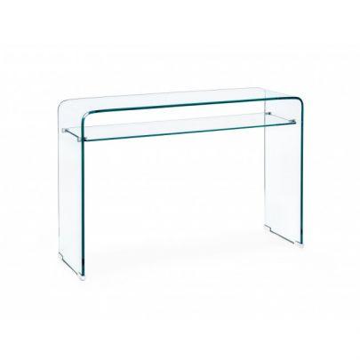 consola cristal templado estilo minimalista