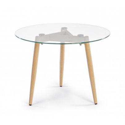 mesa rincón Oakland cristal estilo nórdico