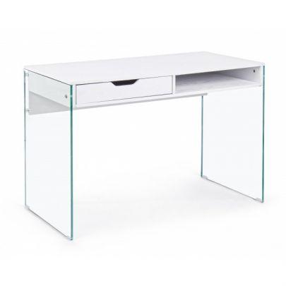 escritorio de estilo nordico fabricado en crisital y madera