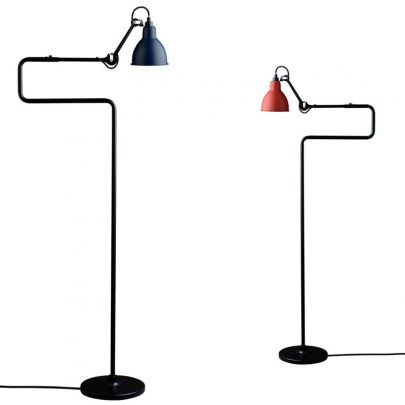 lampara modelo 411 floor en acabado rojo o azul de la marca anglepoise