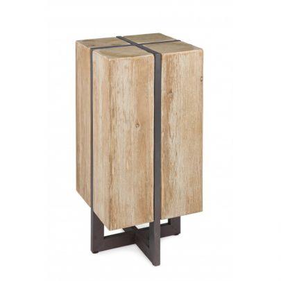 Taburete original tronco madera industrial Garrett