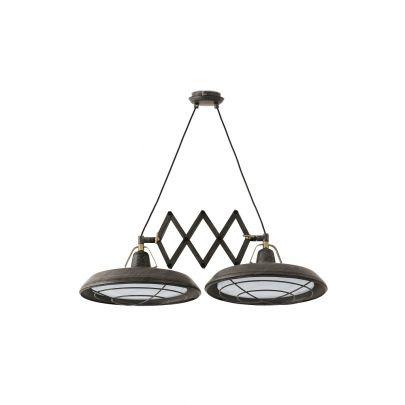 Lámpara-techo-extensible-PLEC-2-marrón