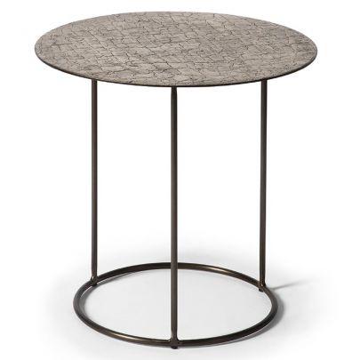 mesa auxiliar de ethnicraft fabricada en metal