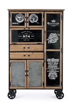 Mueble Ruedas 6P-2C LIVERPOOL - ¡Perfecto Industrial!