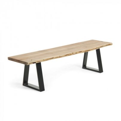 banco madera metal industrial