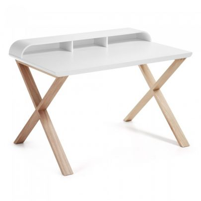 escritorio de madera de fresno de estilo nordico