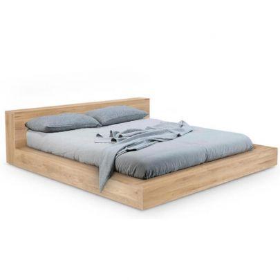 cama grande madera de roble macizo ethnicraft