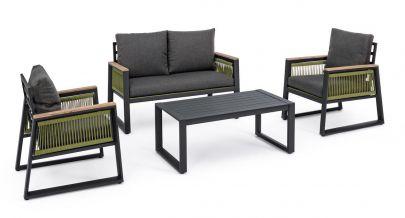 conjunto Captiva para jardín sofá, sillón, mesa