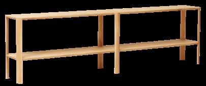 consola estilo nordico fabricada en roble