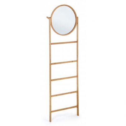 espejo de madera de bambu estilo nordico