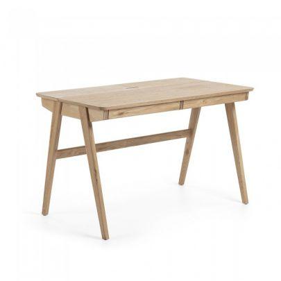 escritorio de estilo nordico con dos cajones