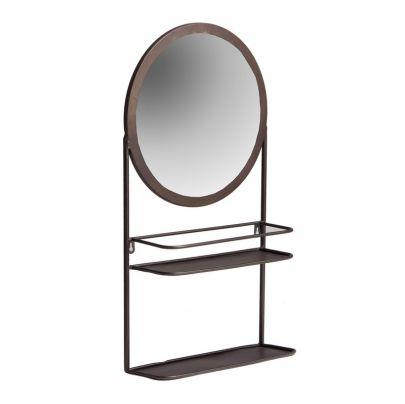 espejo de estilo industrial con balda