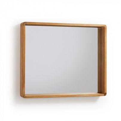 Espejo estilo nórdico fabricado en madera de teca