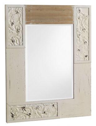 espejo de estilo vintage de madera para colgar en la pared