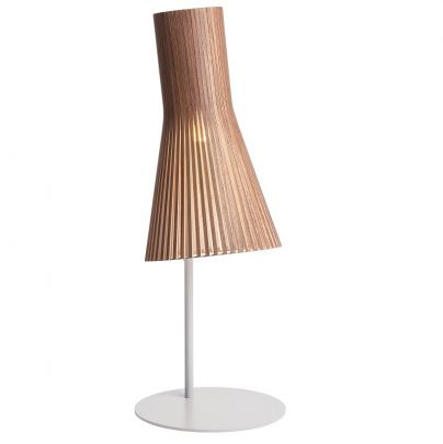 lampara de sobremesa de la marca secto desing en color marron y blanco modelo secto 4220