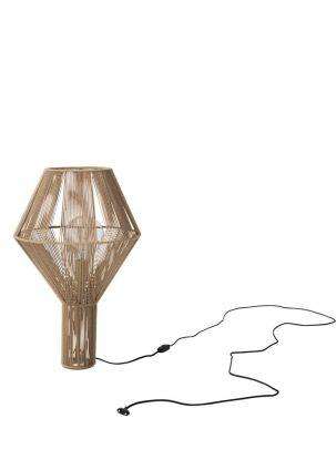 lampara de pie diseñada por la marca pholc modelo spinn en color marron
