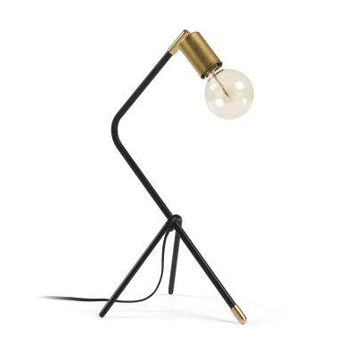 lampara de sobremesa tripode estilo industrial