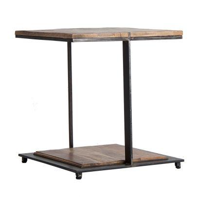 mesa auxiliar de estilo industrial