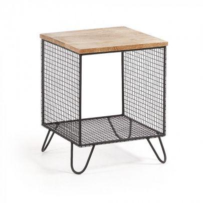 Mesa industrial combinada madera metal