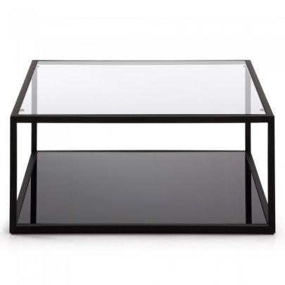 mesa centro cristal cuadrada