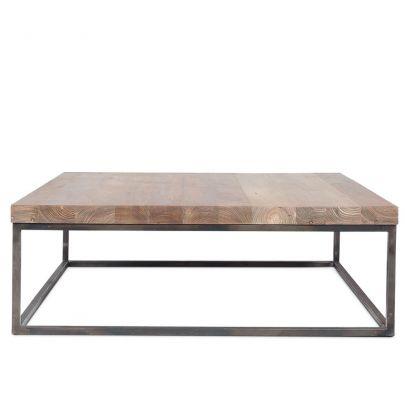 mesa centro dareels two hierro y teca
