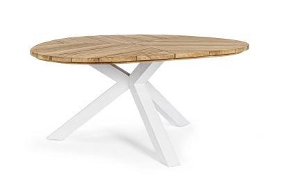 Mesa comedor madera aluminio Bizzotto Homemotion