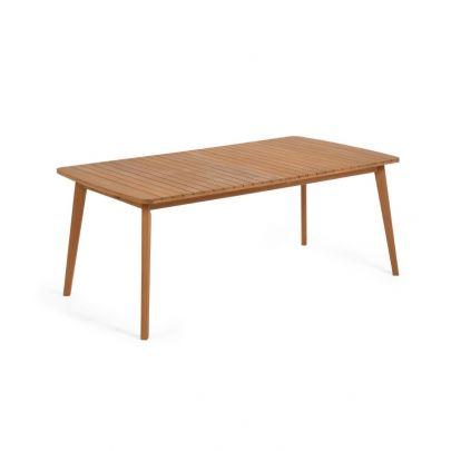 mesa comedor extensible Hanzel madera maciza exterior