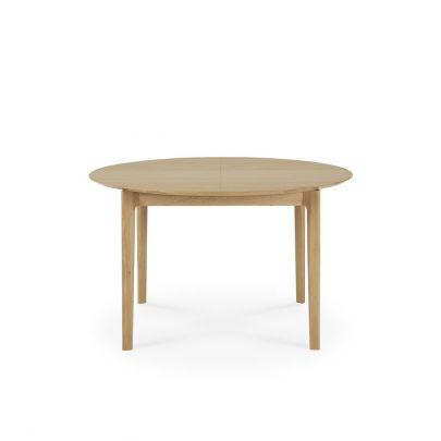 Mesa de comedor extensible redonda de roble Bok
