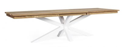 Mesa comedor extensible Bizzotto Homemotion exterior madera