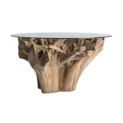 mesa comedor tronco  rustica