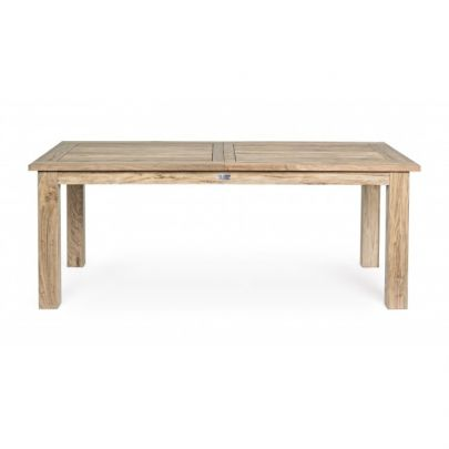 Mesa de exterior jardín madera teca
