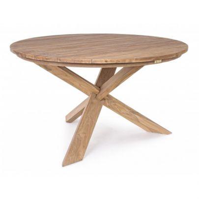mesa teca redonda