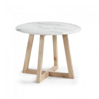 Mesa auxiliar mármol modelo HAYLO de estilo nórdico