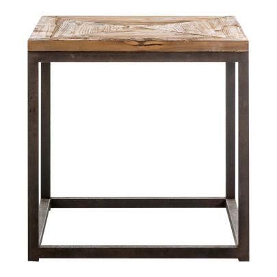 mesa auxiliar estilo industrial