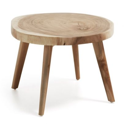 mesa auxiliar de estilo nórdico en madera de munggur