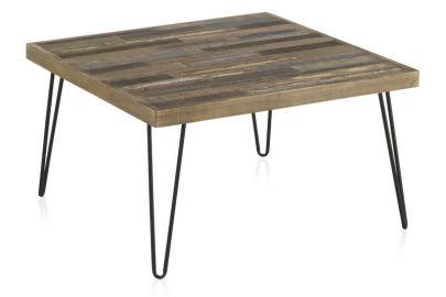mesa centro industrial madera metal