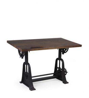 Mesa escritorio vintange de estilo industrial regulable