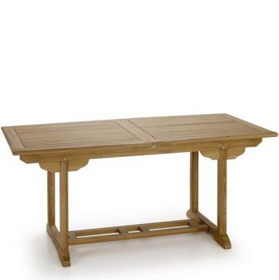 Mesa extensible para jardín teca