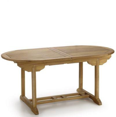 Mesa extensible para jardín ovalada