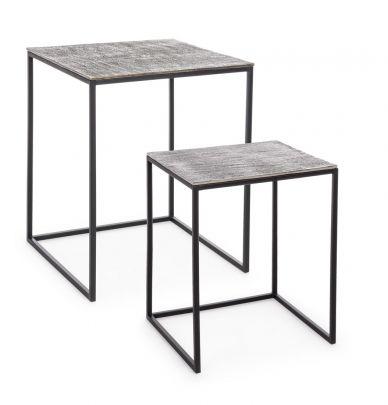 Set mesas auxiliares TAHIR en hierro estilo minimalista