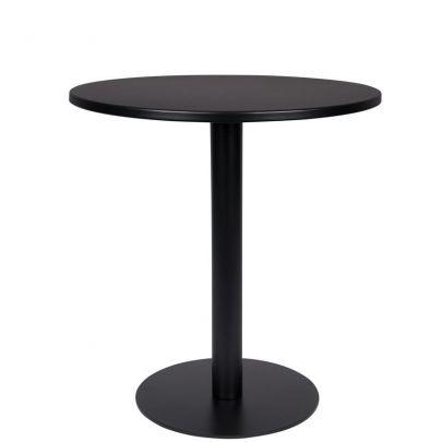 mesa exterior redonda negra