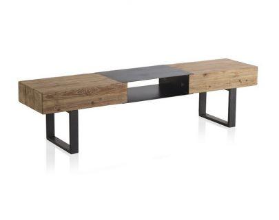 mueble tv industrial madera metal